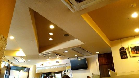 モーニング喫茶リヨン 天井と照明
