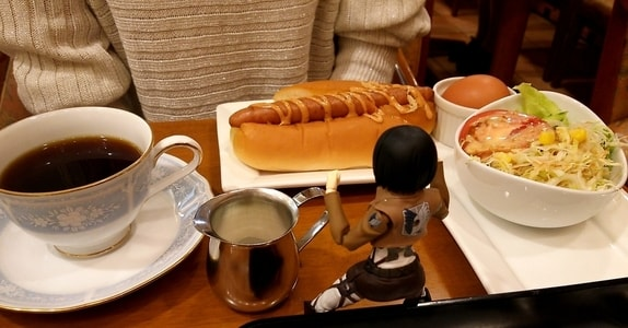 カフェルパンのホットドッグセット