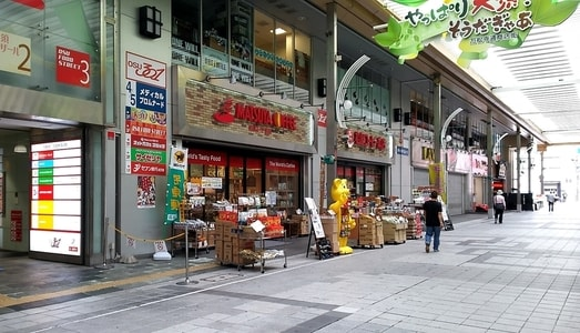 大須商店街に建つ松屋コーヒー本店