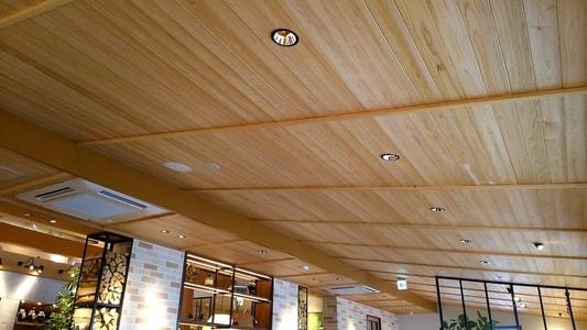 むさしの森珈琲 天井と照明器具