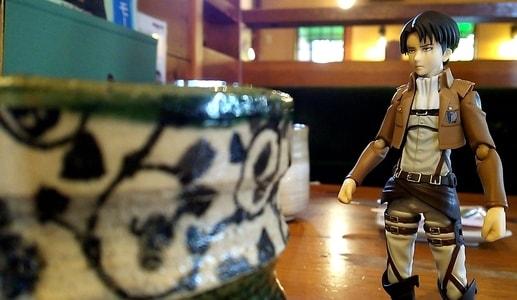 おかげ庵・茶屋ヶ坂店 ほうじ茶オーレとリヴァイ兵長