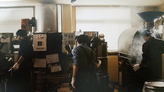 土居珈琲の焙煎所
