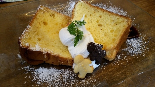 豆乳シフォンケーキのアップ写真
