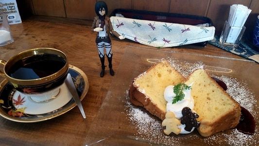 豆腐かふぇ浦島 浦島ブレンドと豆乳シフォンケーキのセット