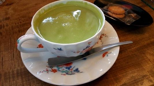 豆腐かふぇ浦島の豆乳抹茶ミルク