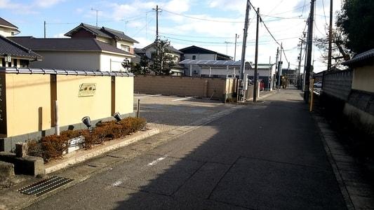 豆腐かふぇ浦島の周辺道路の様子