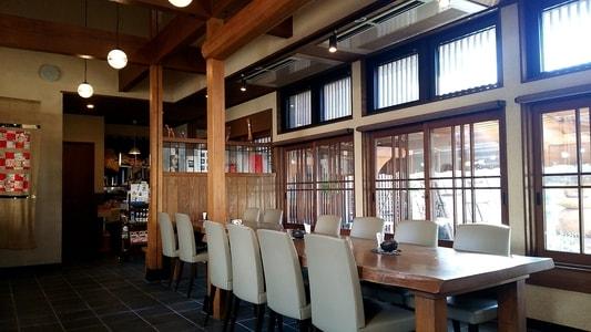 豆腐かふぇ浦島の店内
