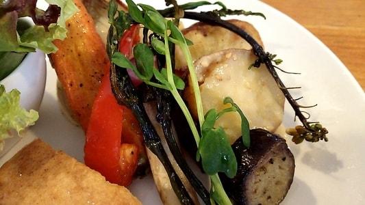 カーレ(carre')のモーニングプレート 野菜のソテー
