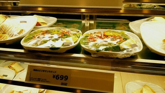 イケアレストラン 海老のピリ辛マリネサンド699円